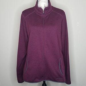 Eddie Bauer, burgundy jacket size 2XL